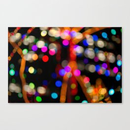 Bokeh Butterfly Lights Abstract Photo Canvas Print