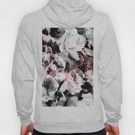 flowers - roses and black marble Hoody