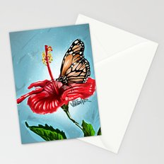 Butterfly on flower 2 Stationery Cards