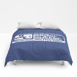 the Paper Cutter Blue Comforters