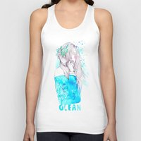 ocean Tank Tops featuring Ocean by Ariana Perez