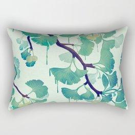 O Ginkgo (in Green) Rectangular Pillow