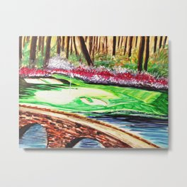 """""""The Masters"""" 12th Hole Metal Print"""