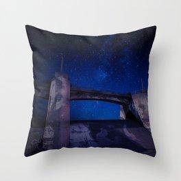 Sepulveda Dam at Night Throw Pillow