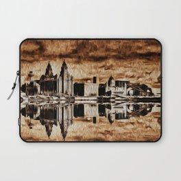 Liverpool Water front Skyline (Digital Art) Laptop Sleeve