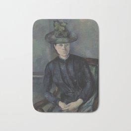 Madame Cézanne with Green Hat Bath Mat