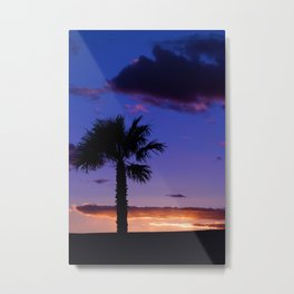 Palm Sunset - V Metal Print