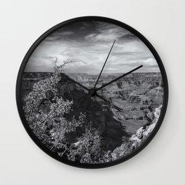Grand Canyon No. 7 bw Wall Clock