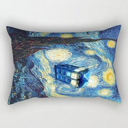 Soaring Tardis doctor who starry night iPhone 4 4s 5 5c 6, pillow case, mugs and tshirt Rectangular Pillow