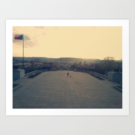 At the top/Prague Art Print