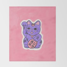Manekineko 2 Throw Blanket