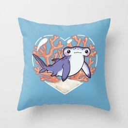 NIBBLE the Hammerhead Shark Throw Pillow