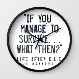 """If you Manage to Survive. . . What then?"" Wall Clock"