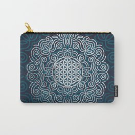 Flower Of Life (Silver Lining) Carry-All Pouch