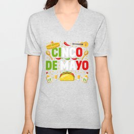 Cinco De Mayo Party Unisex V-Neck