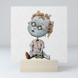 The Zombie Games (girl) Mini Art Print