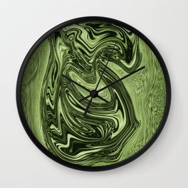 Emerald ......flowing liquid color....original art Wall Clock