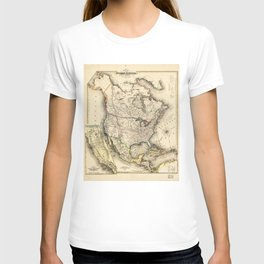 Map of North America (1850) T-shirt