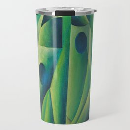 Cubist Abstract Of Village Woman Wearing A Headscarf Travel Mug