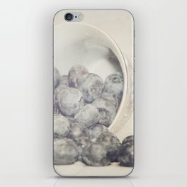 Spilled Blueberries iPhone Skin