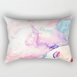 Burning Girl Rectangular Pillow