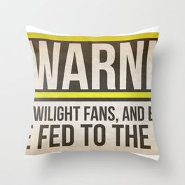 Fed to the Gators Throw Pillow