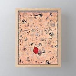 Sakai Hoitsu - Miscellaneous Paintings and Calligraphy for the Third Year of the Bunsei Era Framed Mini Art Print