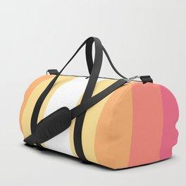 70s Retro Hippie Stripes Palette Duffle Bag