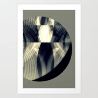 The moon is almost full tonight Art Print