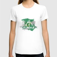 deathly hallows T-shirts featuring The Deathly Hallows (Slytherin) by FictionTea