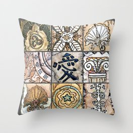 Artsy Artifacts Throw Pillow
