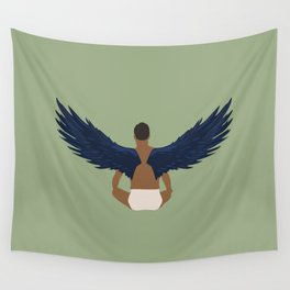 Bird Man Wall Tapestry