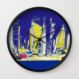 NEW YORK    by Kay Lipton Wall Clock
