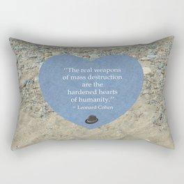 Hardened Hearts Rectangular Pillow