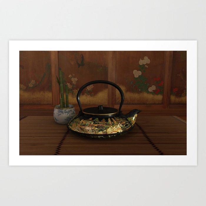 Japanese Tea House Art Print By Jblaxland