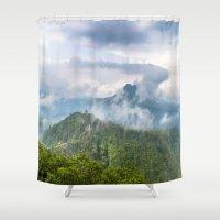 indonesia Shower Curtains featuring Mt Batur - Bali, Indonesia by Jennifer Stinson
