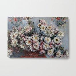 """Claude Monet """"Chrysanthemums"""", Vétheuil, 1878 Metal Print"""