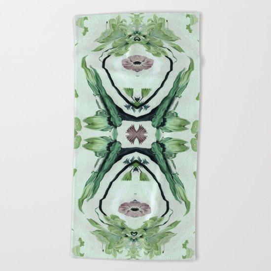 Green life Beach Towel