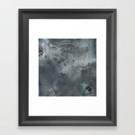 Dark grey letter vintage batic look Framed Art Print