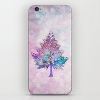 christmas tree iPhone & iPod Skins featuring Christmas Tree by Klara Acel