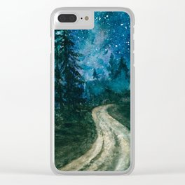 Starlit path Clear iPhone Case