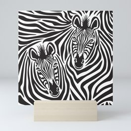 Zebras Pattern Mini Art Print