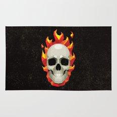 Flaming Skull Rug