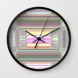 Moderne Glitch Wall Clock