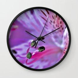 Tiger Petals Wall Clock