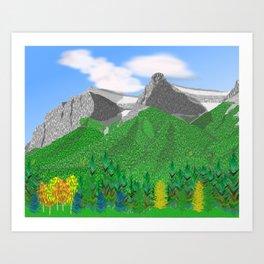 Mount Rundle (South Peaks) Art Print