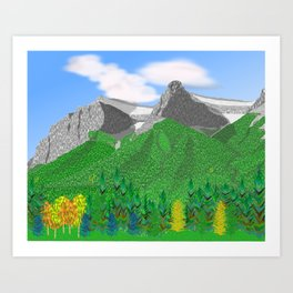 Mount Rundle (South Peaks) Art Print