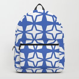 Mid Century Modern Star Pattern Blue 552 Backpack