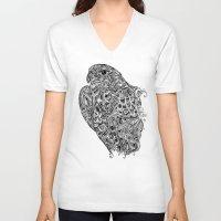 hawk V-neck T-shirts featuring Hawk by kayse wieneke