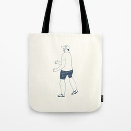 boy in a B cap Tote Bag